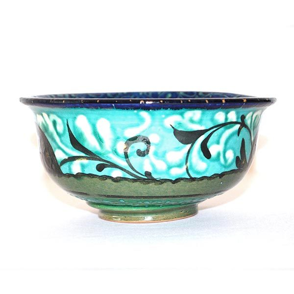 decorative ceramic bowl with colourful design for sale
