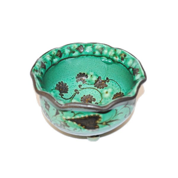 amazing ceramic bowl with multicoloured design