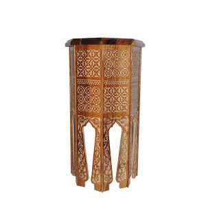 tall wooden carved table with magnificent design