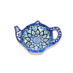 affordable teapot-shaped plate with colourful design for sale