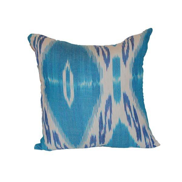 handwoven blue cushion 100% cotton