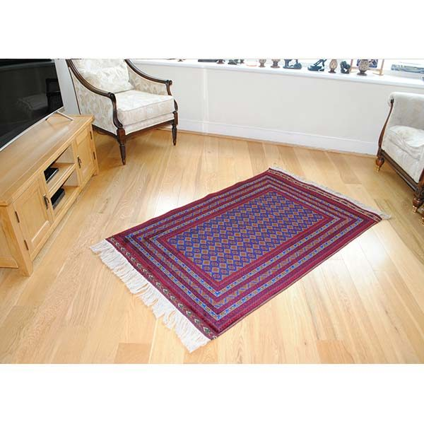 handcrafted bokhara wool rug for sale uk
