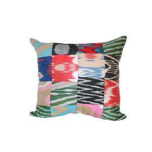multicoloured cushion with unique design