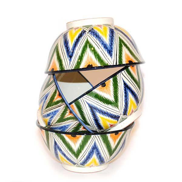 magnificent ceramic bowl with multicoloured design