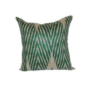 handmade green pillow 100% cotton for sale