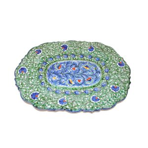 hand-painted oriental colourful plate for sale