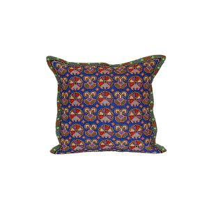 handmade cushion with colourful design