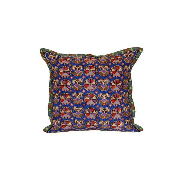 handmade cushion with colourful design