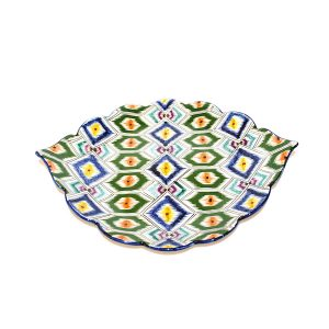 colourful handcrafted plate with awesome design for sale