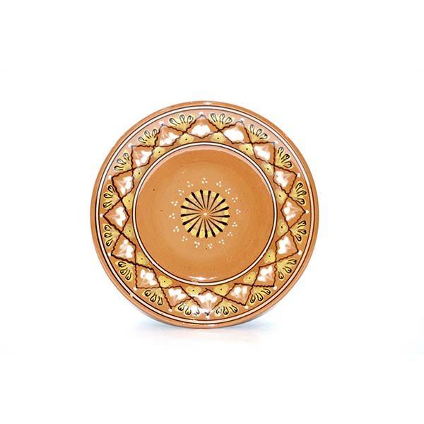 handmade light brown ceramic plate for sale