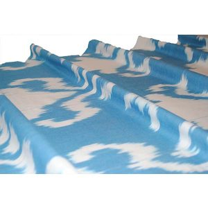 exclusive cotton fabric in light blue design