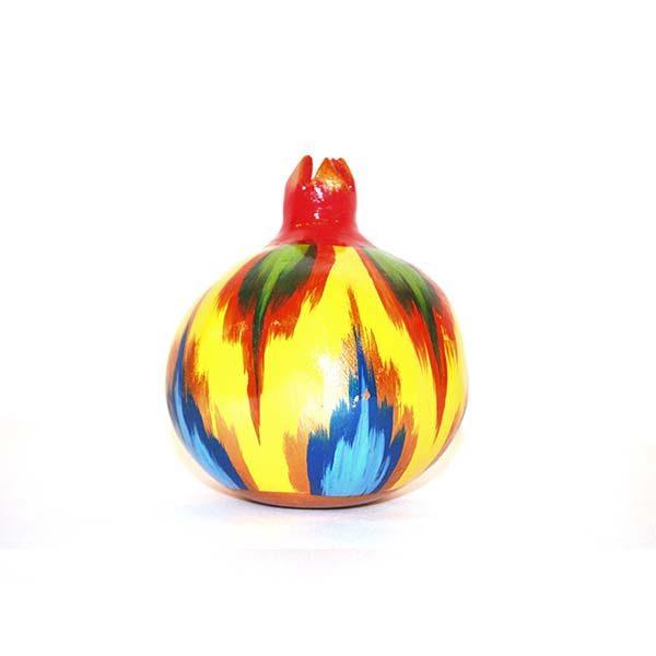 handmade colourful ceramic pomegranate