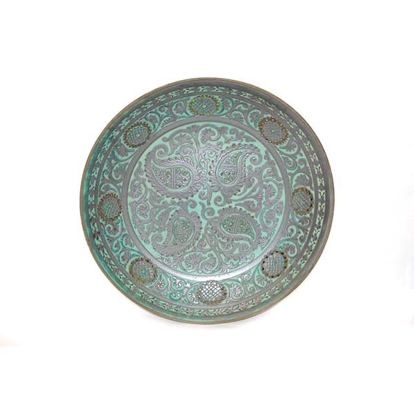 handcrafted oriental ceramic plate