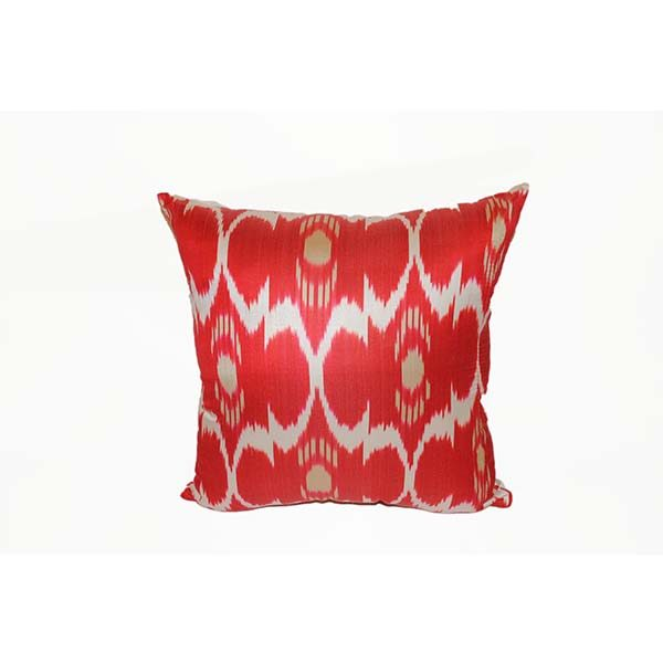 oriental cushion with red handmade design