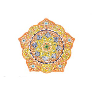 fabulous ceramic plate with handmade design