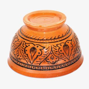 bukhara ceramic bowl in orange design for sale