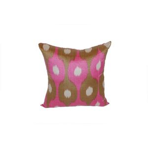handwoven modern cushion with colourful design