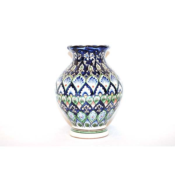 exclusive ceramic small vase with colourful design