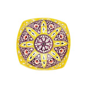 yellow ceramic square plate for sale in uk