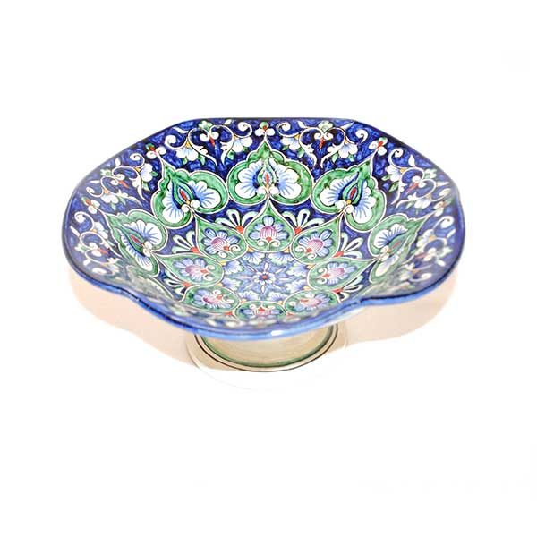 delightful colourful dish with hand-painted design