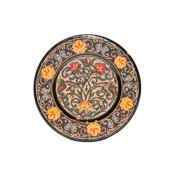 luxurious handmade plate with colourful design for sale