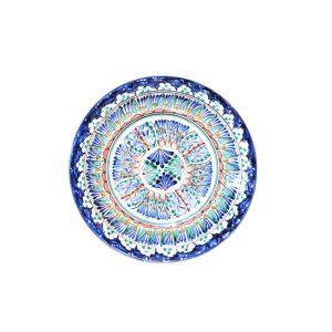 unique ceramic round dish with colourful design for sale