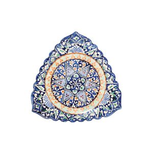 colourful and patterned scalloped edged dish