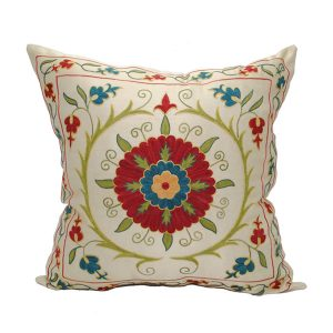 handmade silk cushion with design that stands out for sale in uk