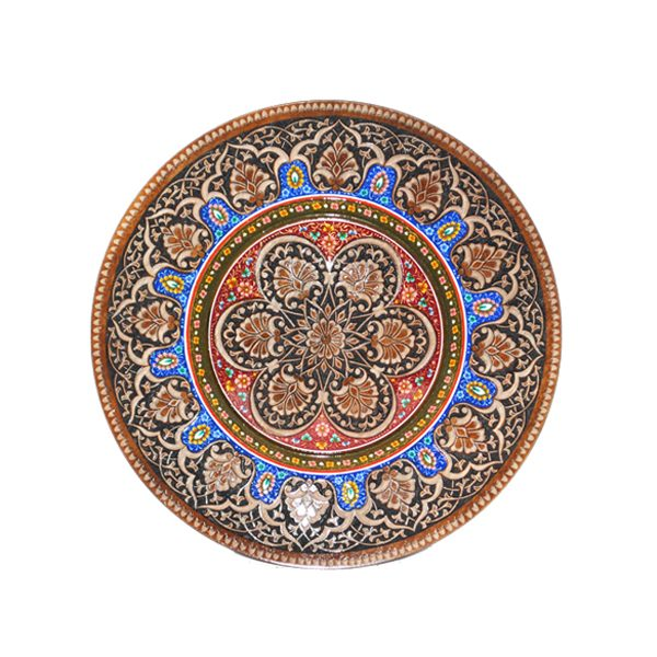 colourful solid wooden plate for sale in uk