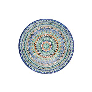 unique floral painted plate with blue design for sale